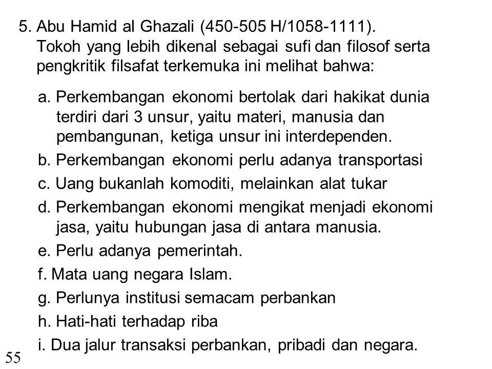 5. Abu Hamid al Ghazali (450-505 H/1058-1111)