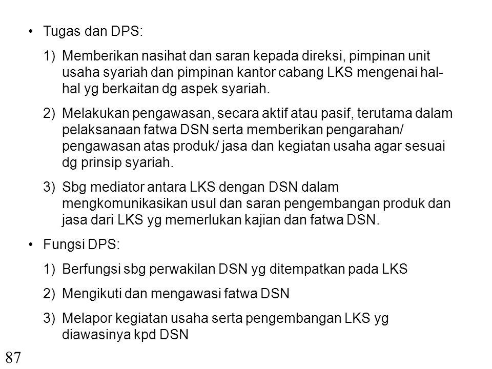 Tugas dan DPS: