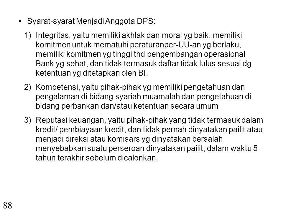 88 Syarat-syarat Menjadi Anggota DPS: