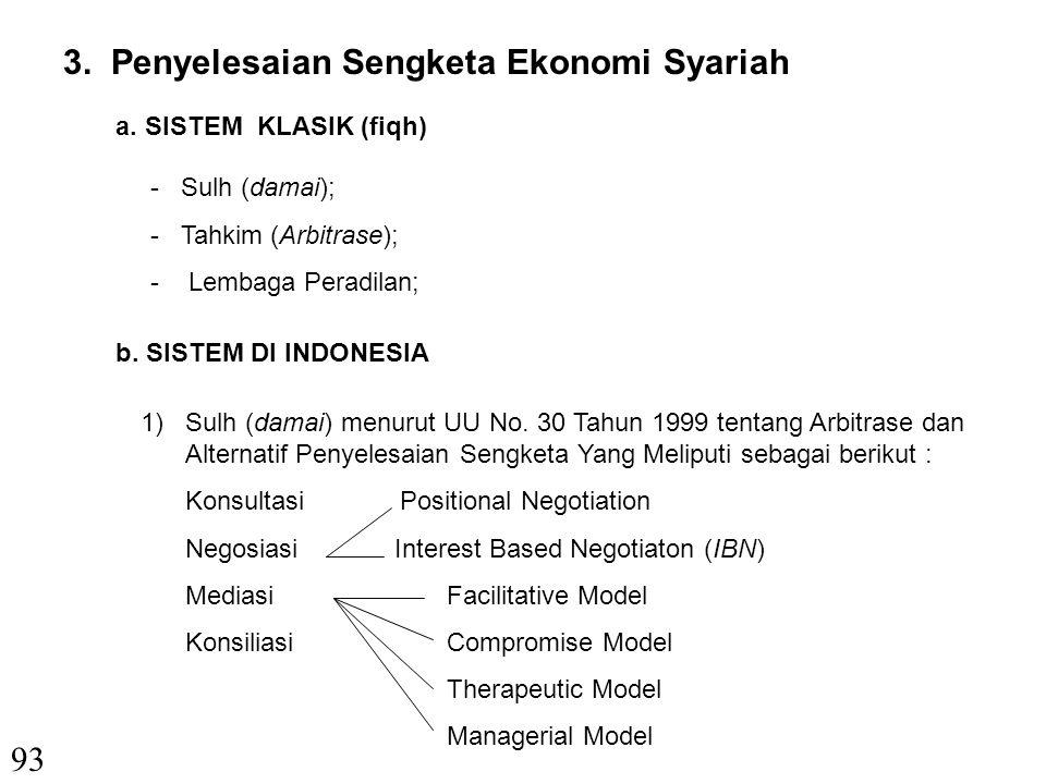 3. Penyelesaian Sengketa Ekonomi Syariah