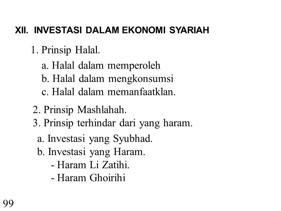 a. Halal dalam memperoleh b. Halal dalam mengkonsumsi