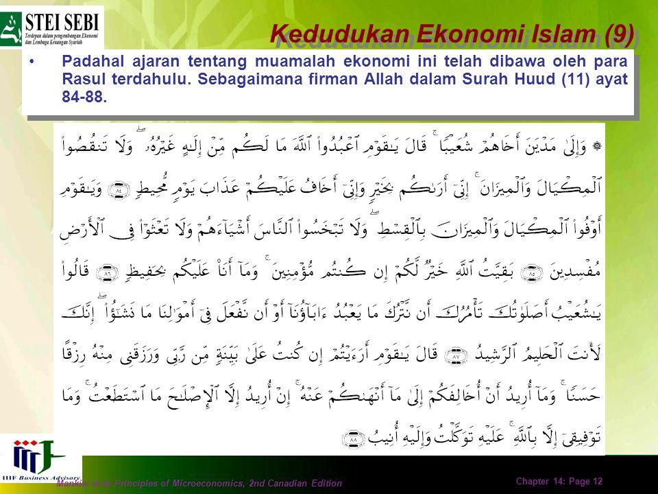 Kedudukan Ekonomi Islam (9)