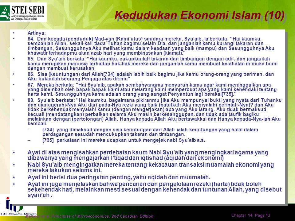 Kedudukan Ekonomi Islam (10)
