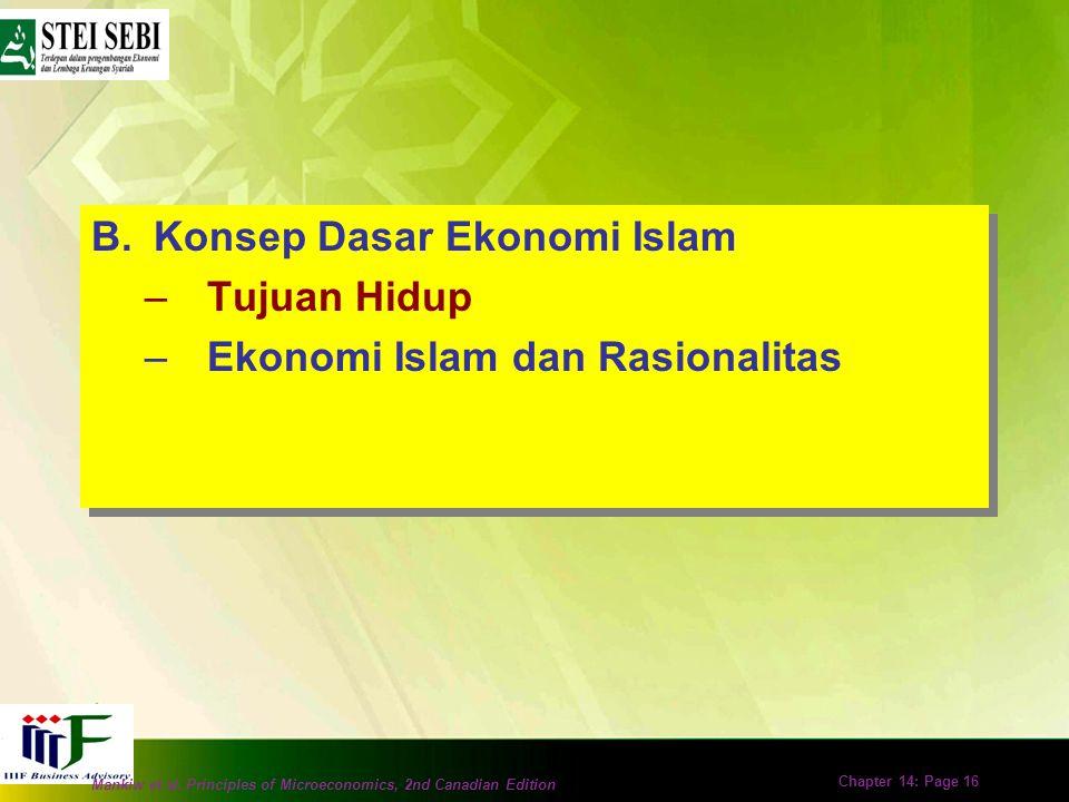 Konsep Dasar Ekonomi Islam Tujuan Hidup Ekonomi Islam dan Rasionalitas
