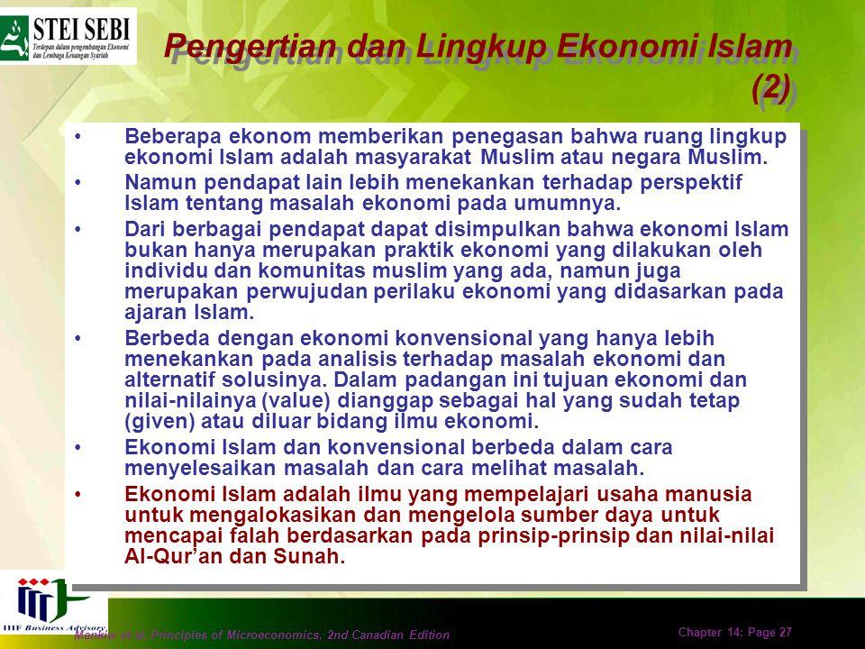 Pengertian dan Lingkup Ekonomi Islam (2)