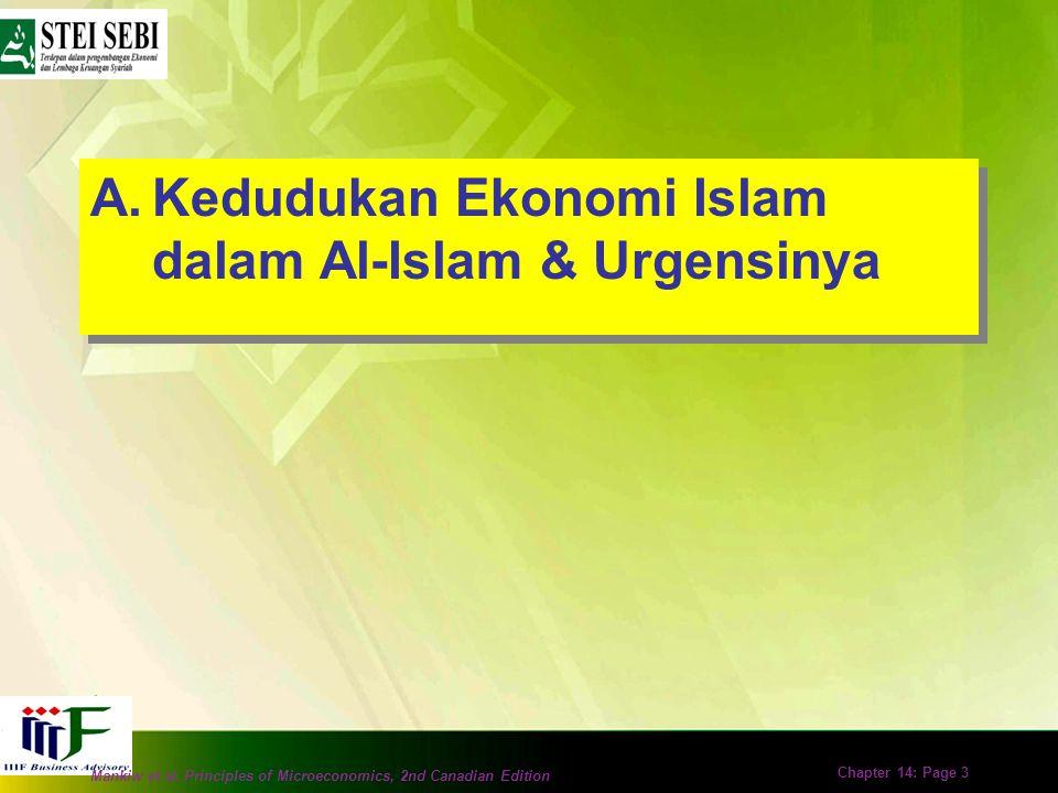 Kedudukan Ekonomi Islam dalam Al-Islam & Urgensinya