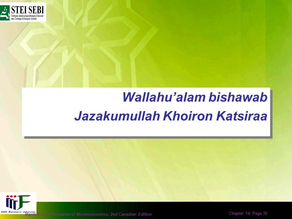 Wallahu'alam bishawab Jazakumullah Khoiron Katsiraa