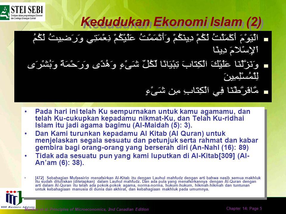 Kedudukan Ekonomi Islam (2)