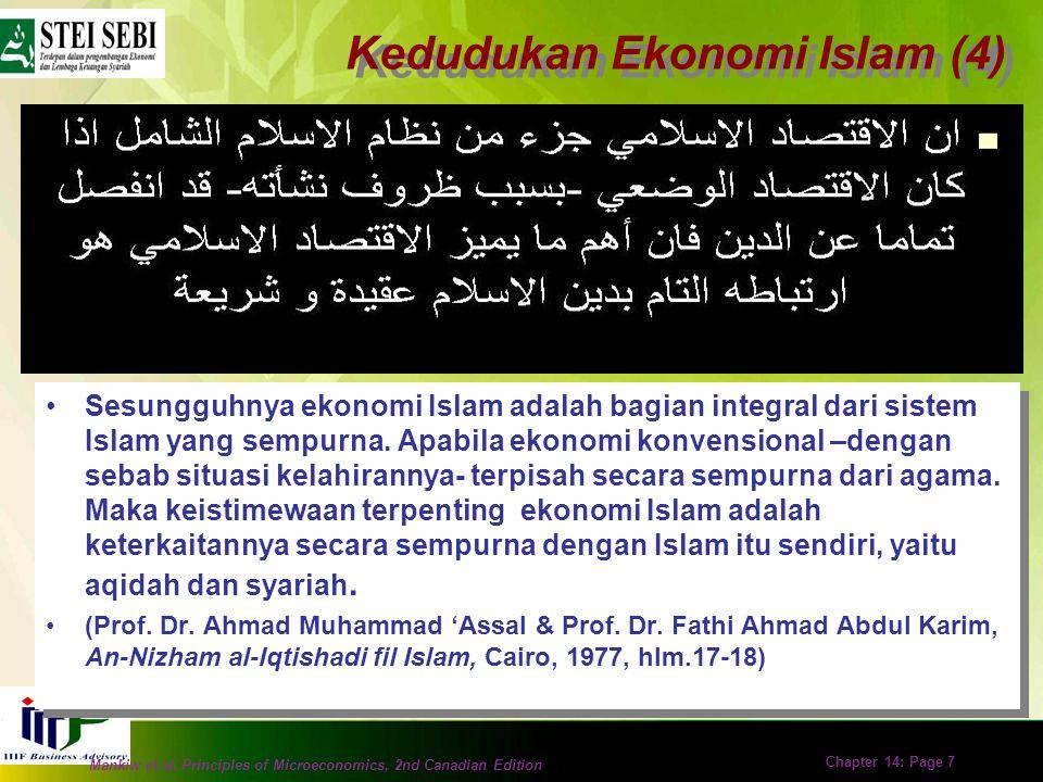 Kedudukan Ekonomi Islam (4)