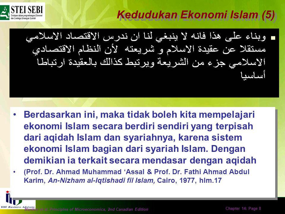 Kedudukan Ekonomi Islam (5)