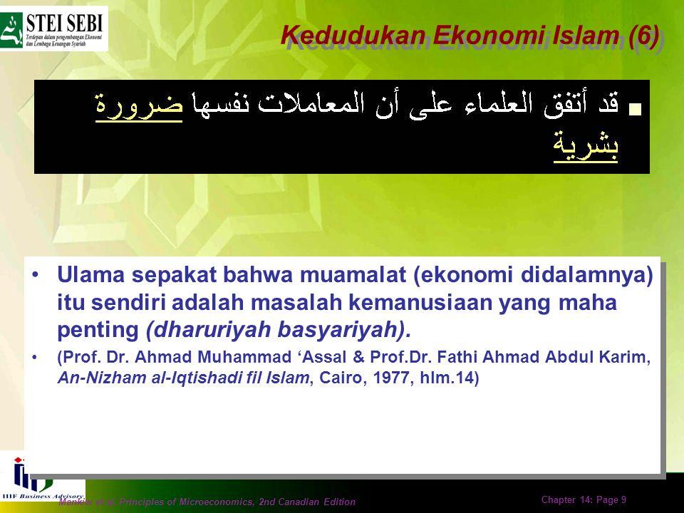 Kedudukan Ekonomi Islam (6)