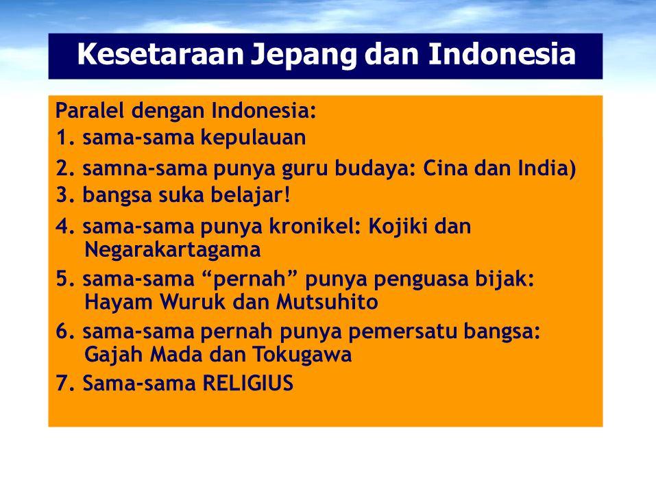 Kesetaraan Jepang dan Indonesia