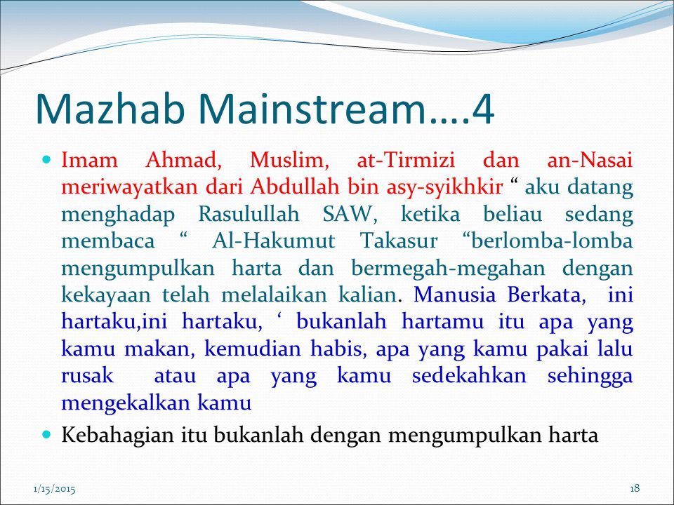 Mazhab Mainstream….4