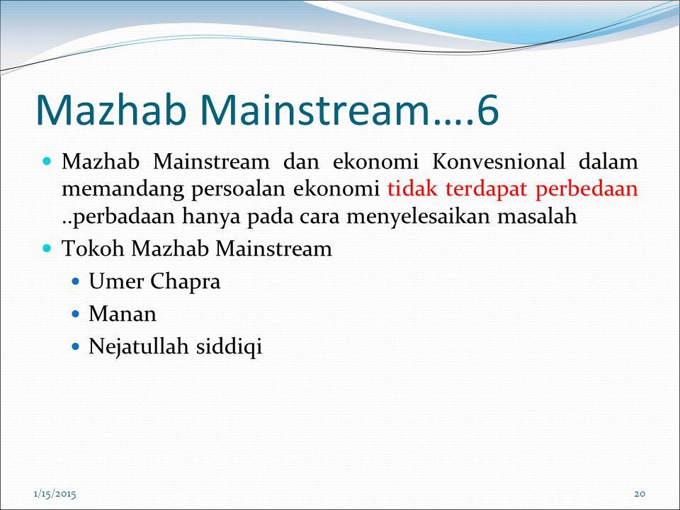Mazhab Mainstream….6