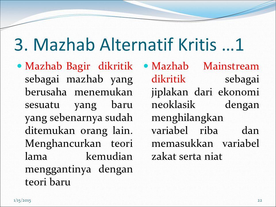 3. Mazhab Alternatif Kritis …1