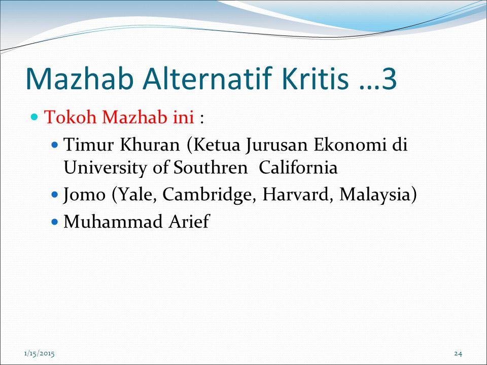 Mazhab Alternatif Kritis …3