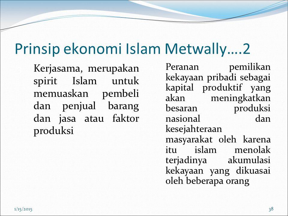 Prinsip ekonomi Islam Metwally….2