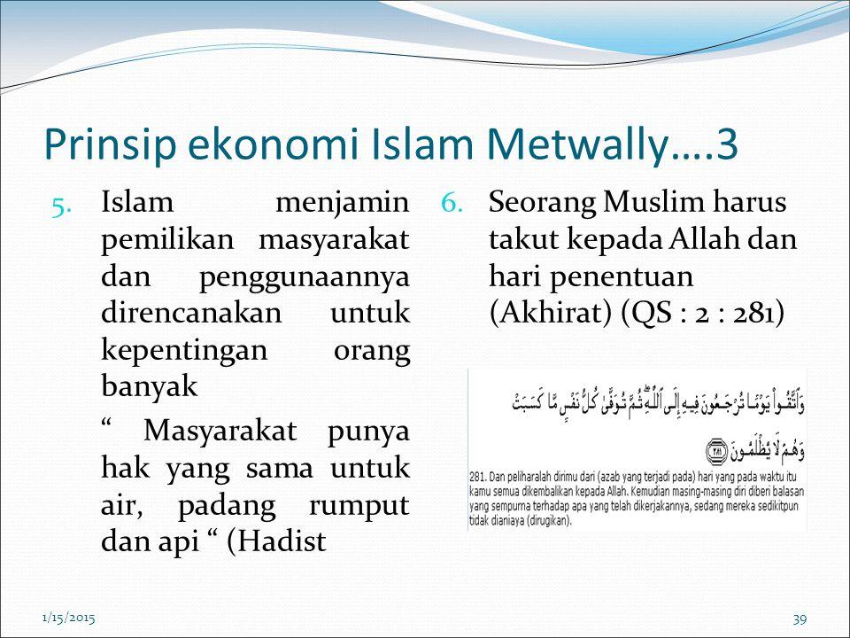 Prinsip ekonomi Islam Metwally….3