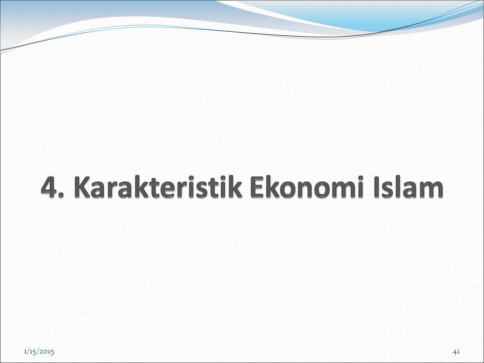 4. Karakteristik Ekonomi Islam
