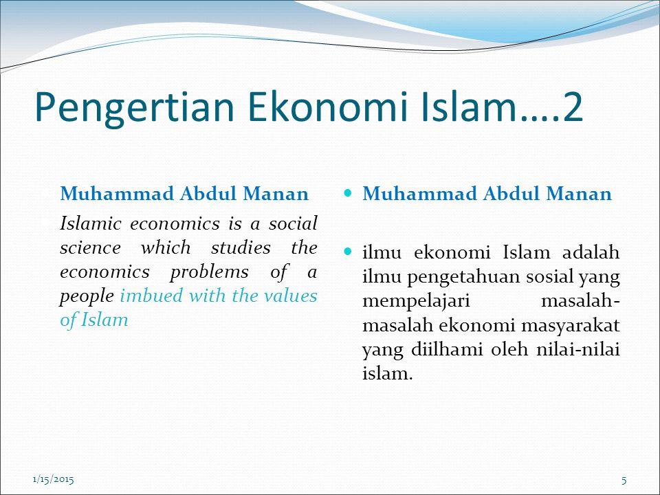 Pengertian Ekonomi Islam….2