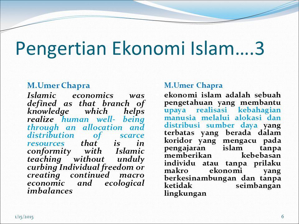 Pengertian Ekonomi Islam….3