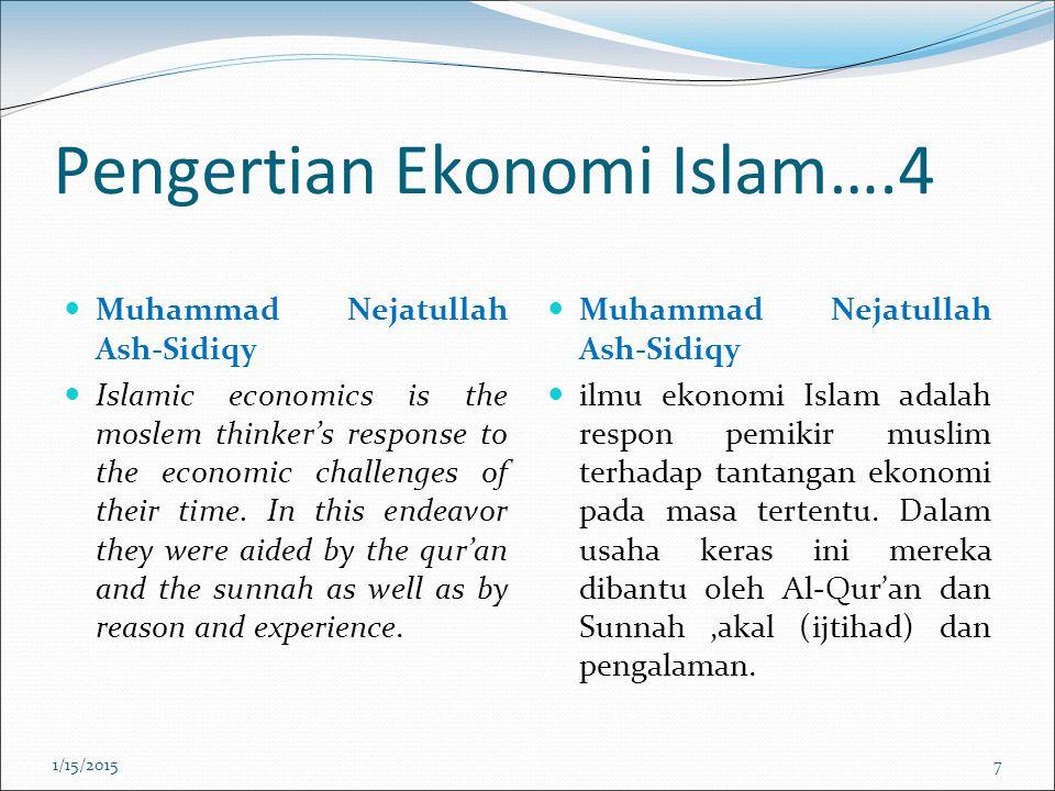 Pengertian Ekonomi Islam….4
