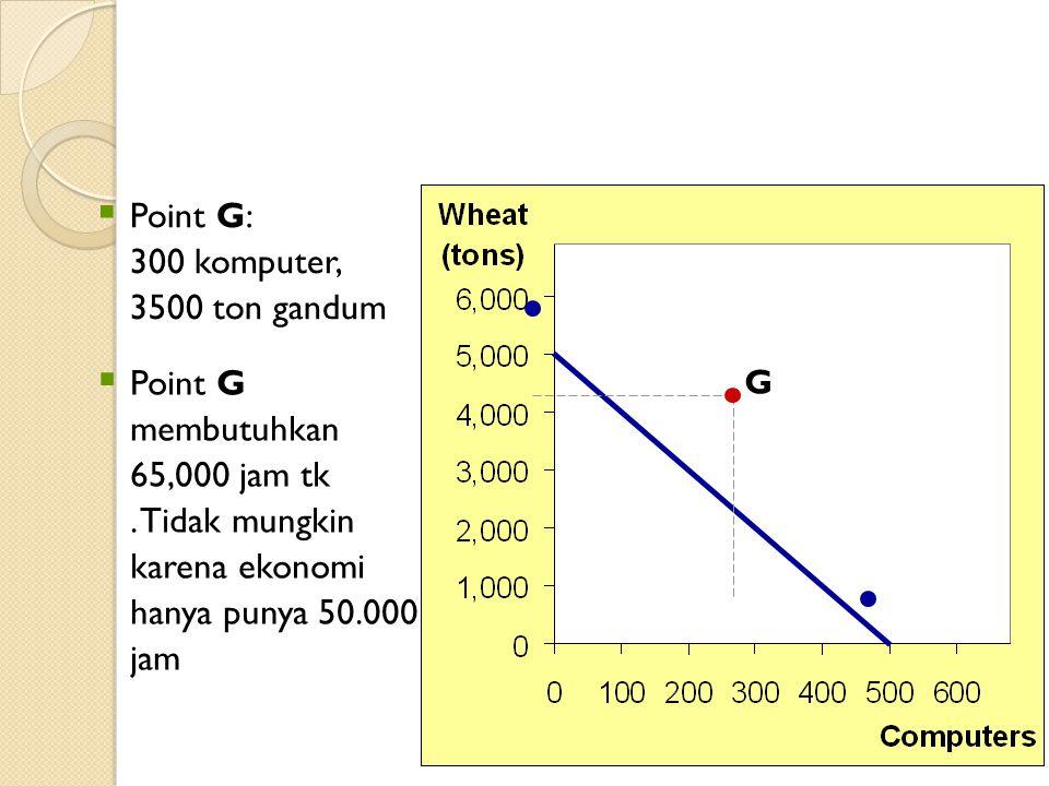 Point G: 300 komputer, 3500 ton gandum