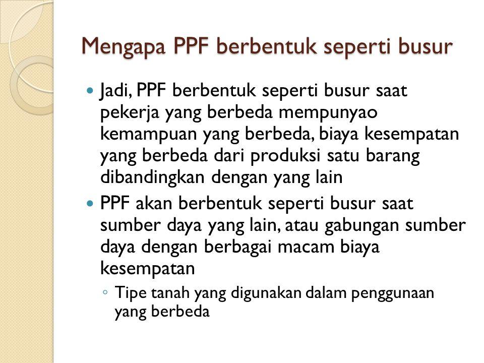 Mengapa PPF berbentuk seperti busur