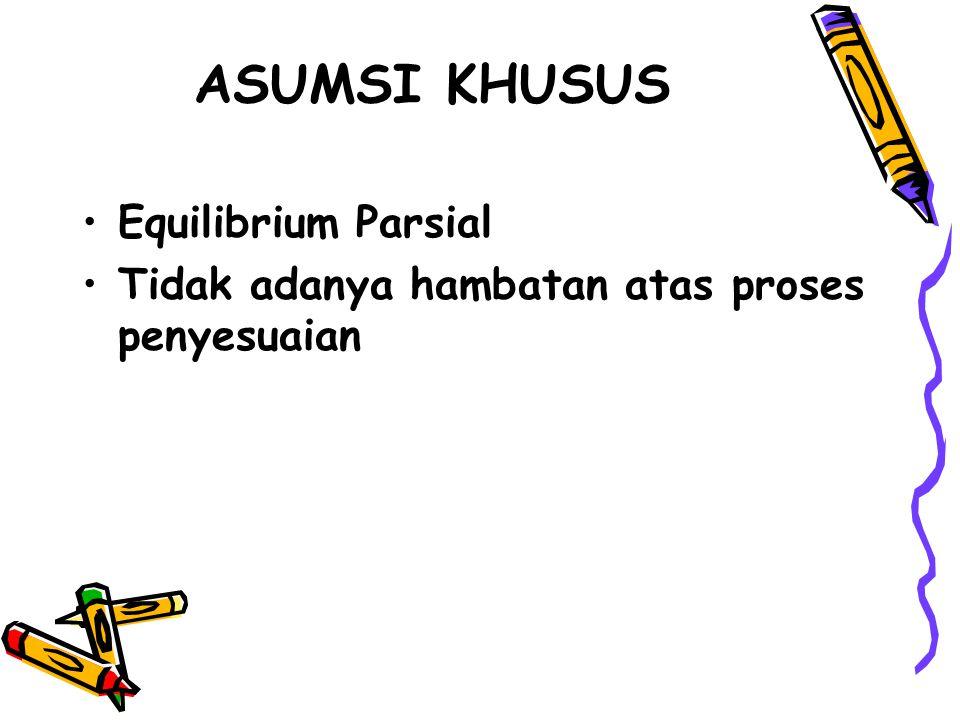 ASUMSI KHUSUS Equilibrium Parsial
