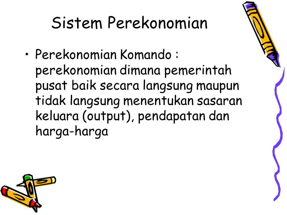 Sistem Perekonomian
