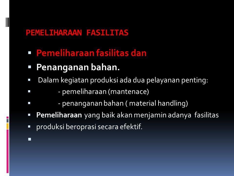 PEMELIHARAAN FASILITAS