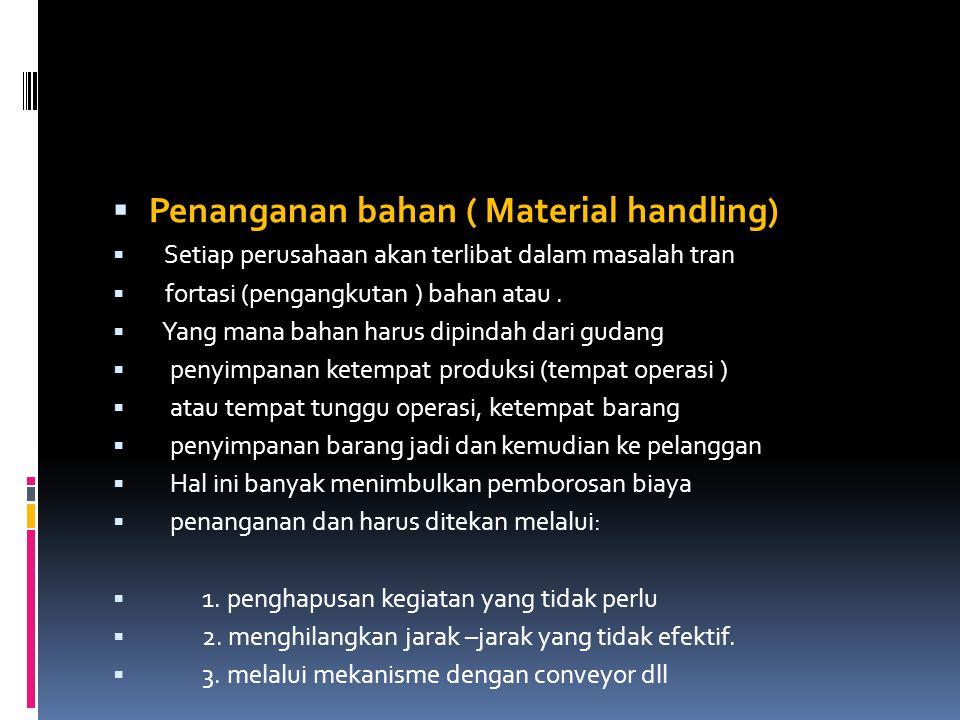 Penanganan bahan ( Material handling)