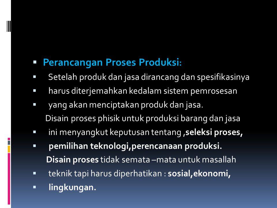 Perancangan Proses Produksi: