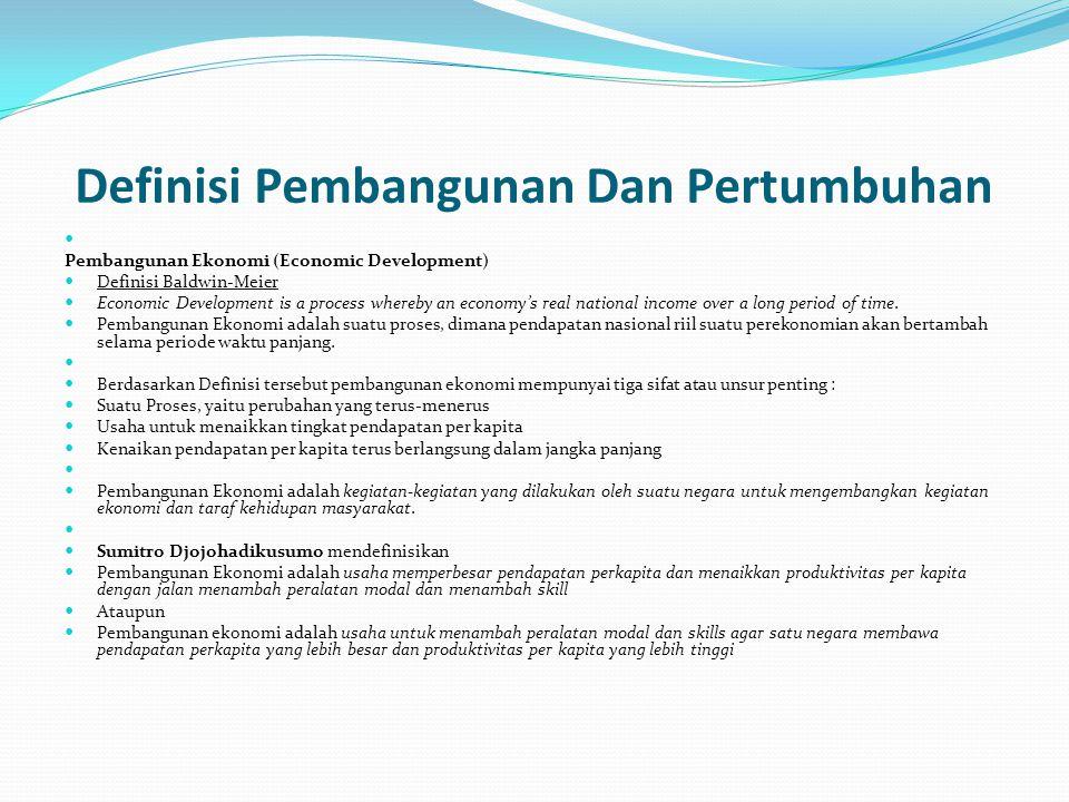 Definisi Pembangunan Dan Pertumbuhan