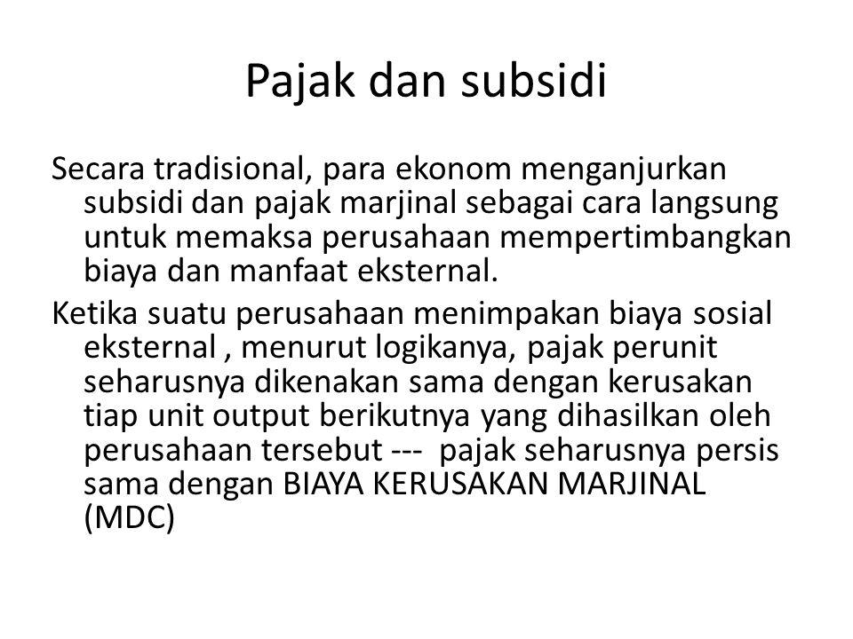Pajak dan subsidi