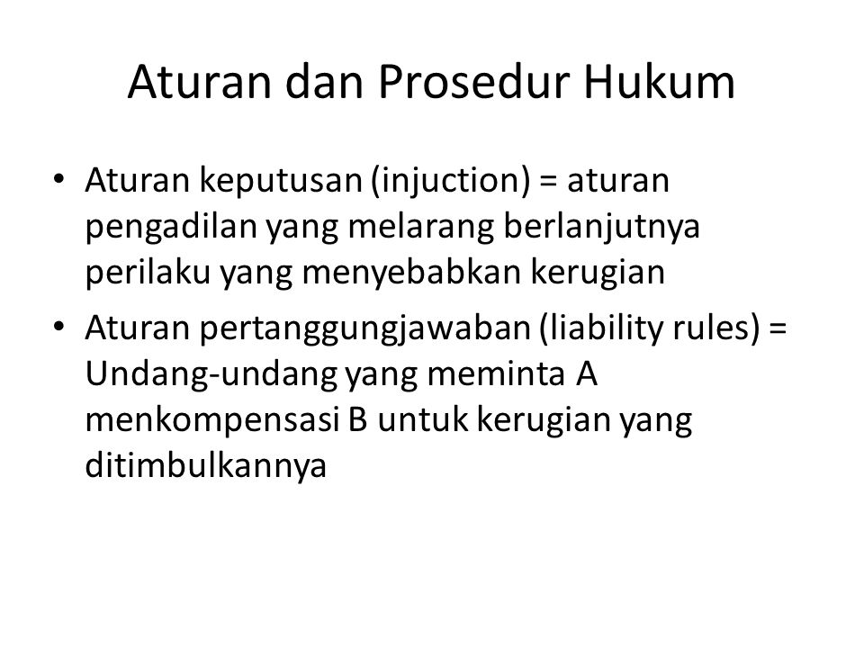Aturan dan Prosedur Hukum