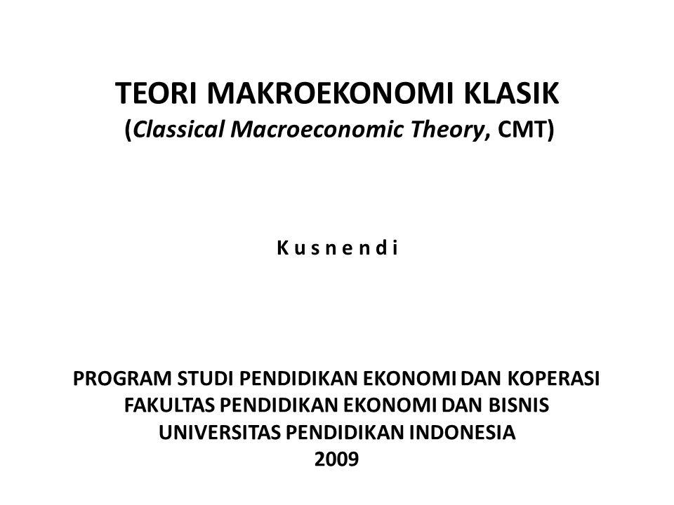 TEORI MAKROEKONOMI KLASIK (Classical Macroeconomic Theory, CMT)