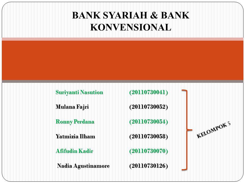 BANK SYARIAH & BANK KONVENSIONAL