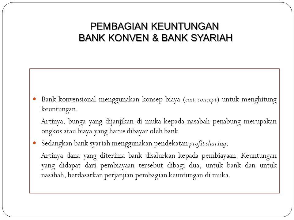 PEMBAGIAN KEUNTUNGAN BANK KONVEN & BANK SYARIAH