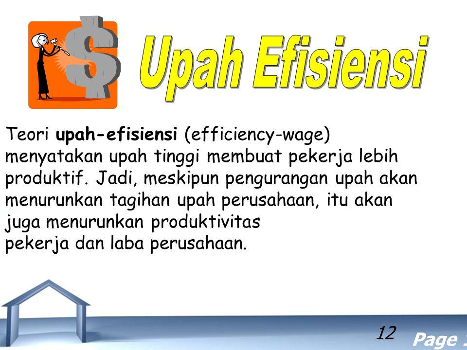 Upah Efisiensi