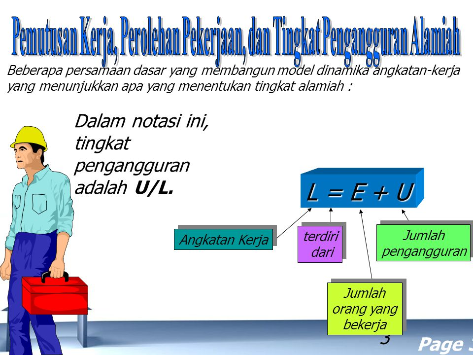 Pemutusan Kerja, Perolehan Pekerjaan, dan Tingkat Pengangguran Alamiah
