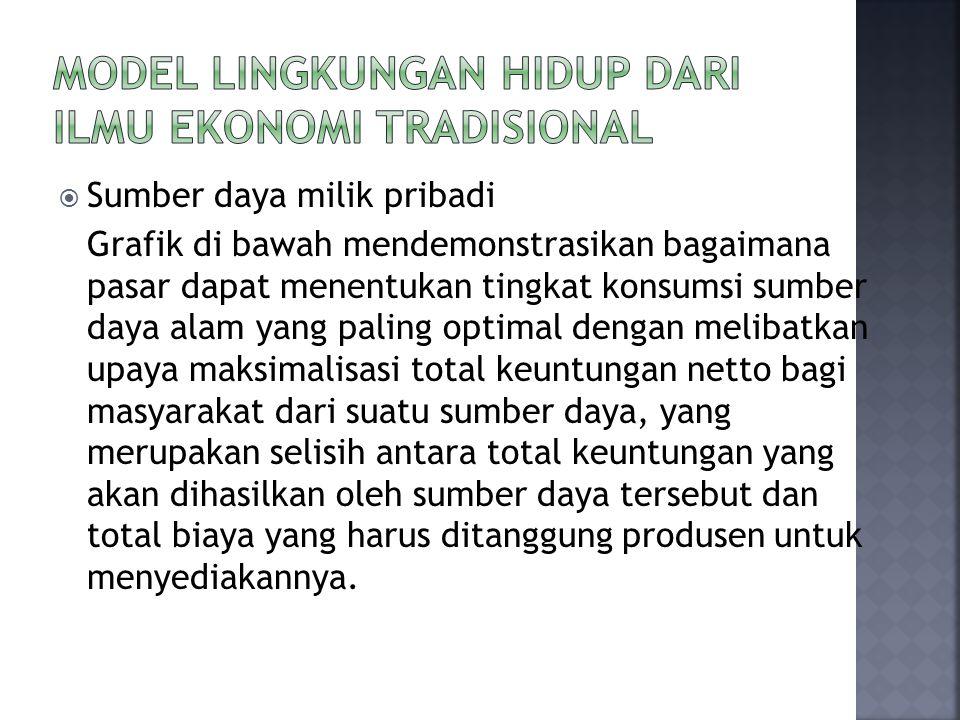 Model lingkungan hidup dari ilmu ekonomi tradisional