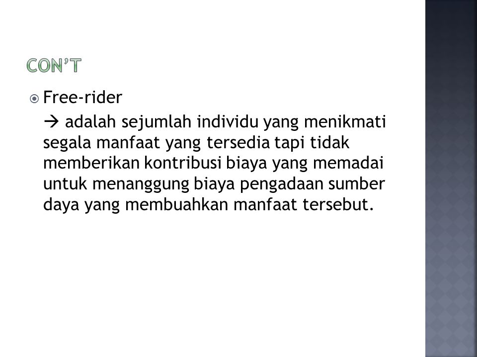 Con't Free-rider.