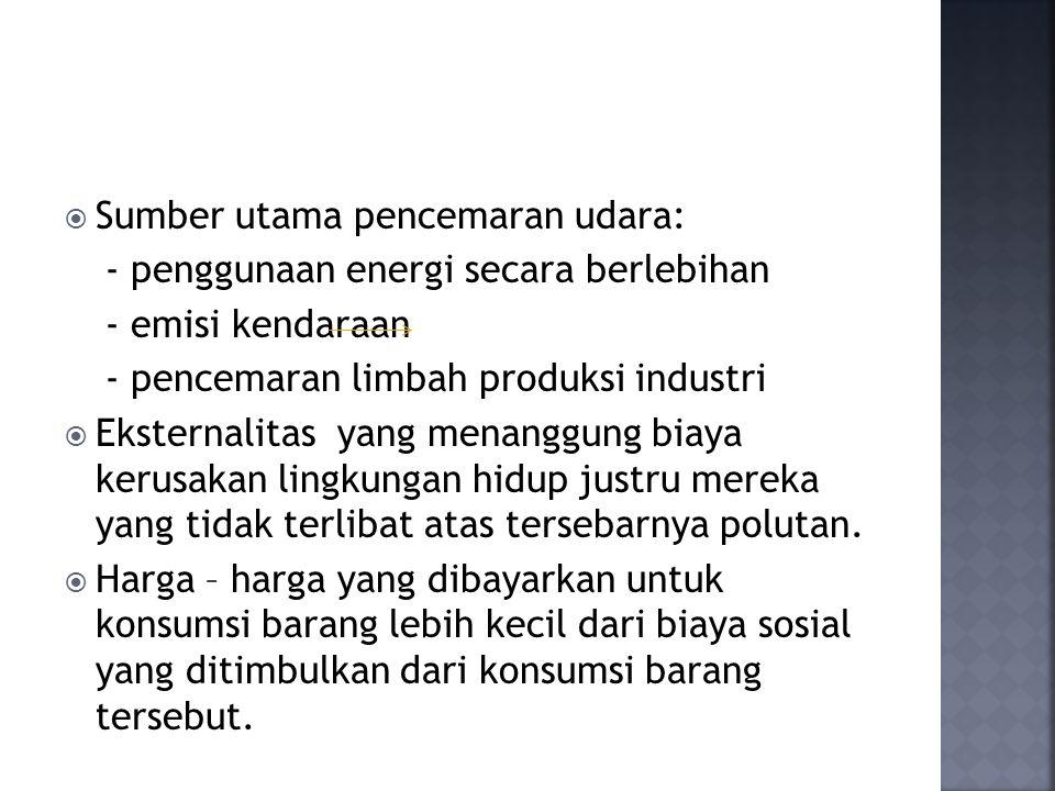 Sumber utama pencemaran udara: