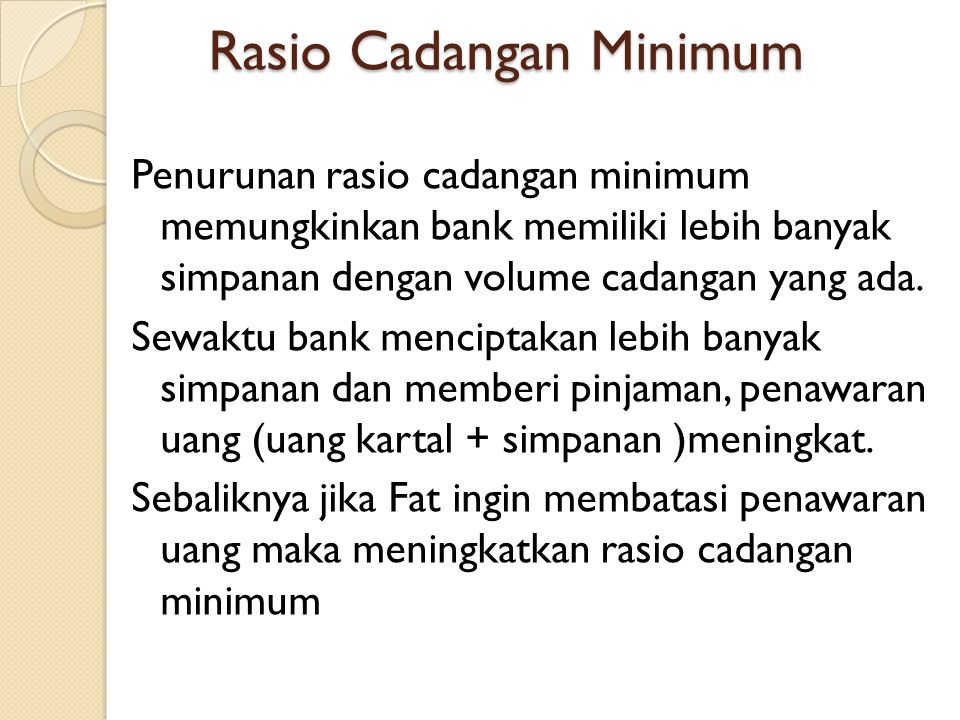 Rasio Cadangan Minimum