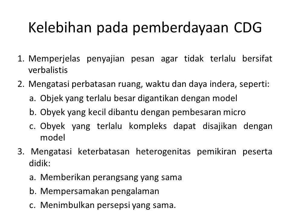 Kelebihan pada pemberdayaan CDG