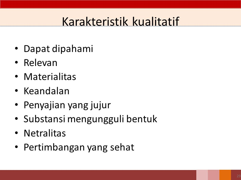 Karakteristik kualitatif