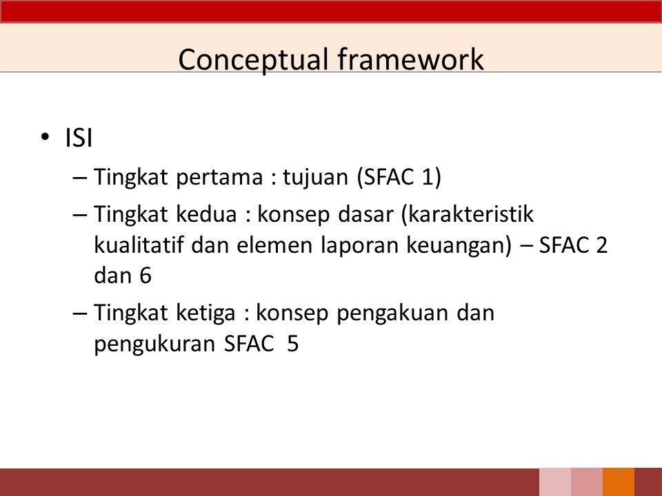 Conceptual framework ISI Tingkat pertama : tujuan (SFAC 1)