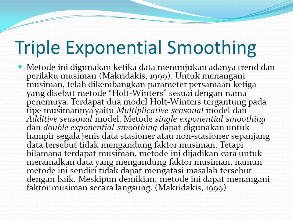 Triple Exponential Smoothing