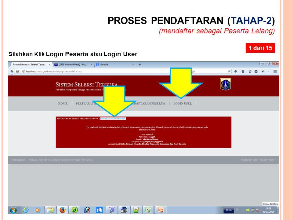 PROSES PENDAFTARAN (TAHAP-2)